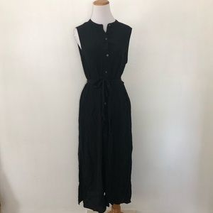 Gap Button Down Belted Midi Dress Large Petite